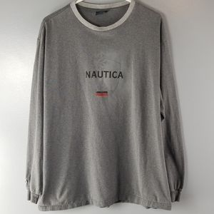 NAUTICA Gray Long Sleeve Tee Size XL